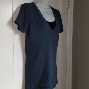 🍂3/$20 PINK navy blue shirt